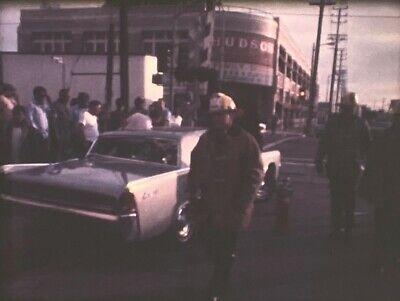 16mm Home Movie CAR VS TRAIN ACCIDENT 1960s? Los Angeles CA