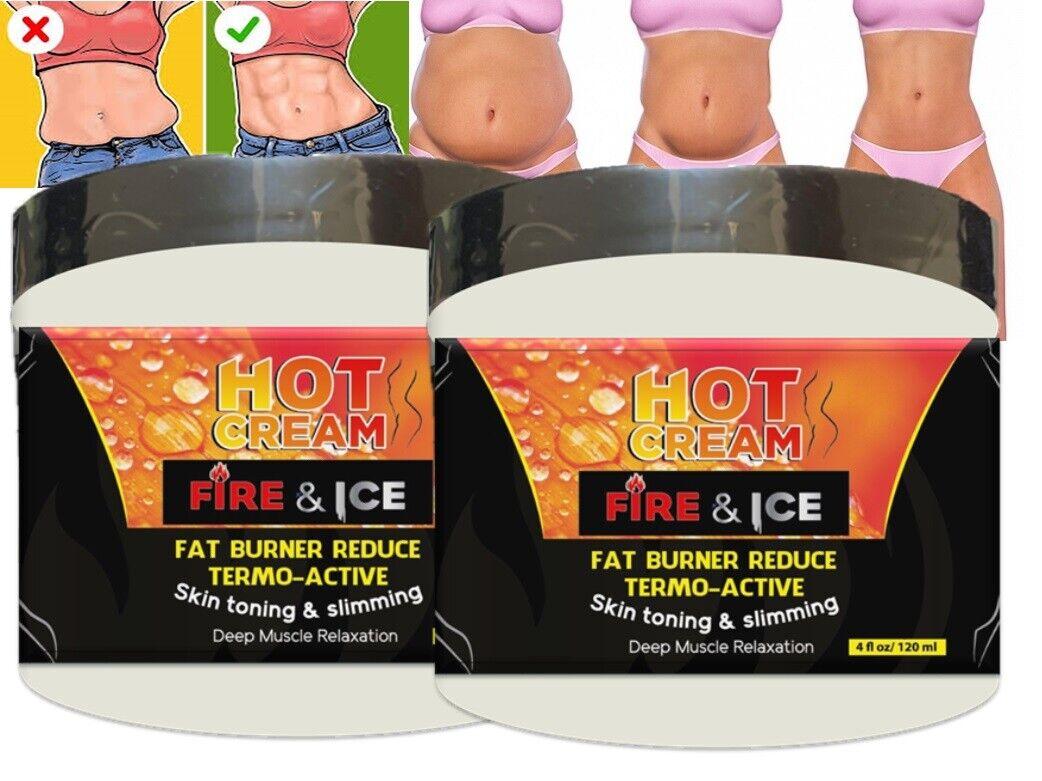Hot Cream 8 Oz Cellulite Treatment Fat Burner reducing 100%