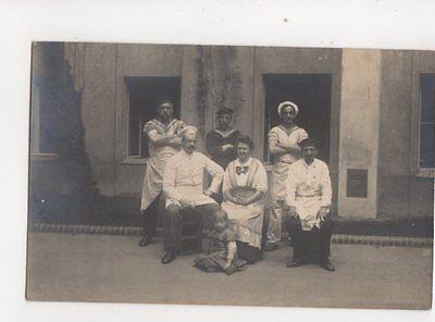 Chef & German Sailors Vintage RP Postcard 234b