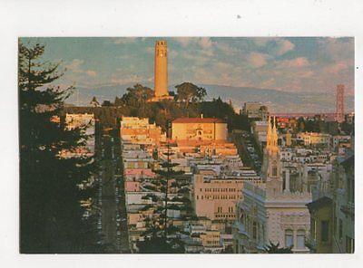 Tower Telegraph Hill (Telegraph Hill & Coit Tower San Francisco USA Postcard 212b)