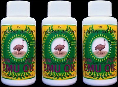 100% Pure Australian Emu Oil *TRIPLE PACK* Unsurpassable in Freshness & Quality