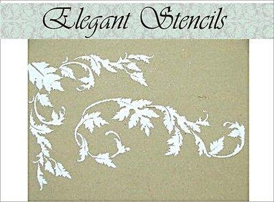 Acanthus Corner - Stencil, Plaster Stencil, Acanthus Corner Border Stencil, Wall Stencil, Stencils