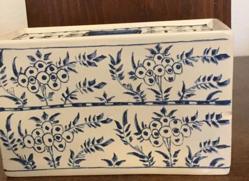 Blue Delft Porcelain Flower Brick