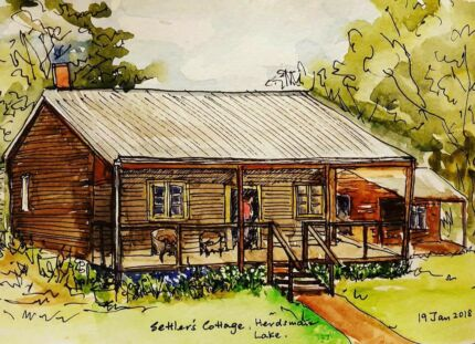 Sketchbooking Classes at Settlers Cottage Artist Studios