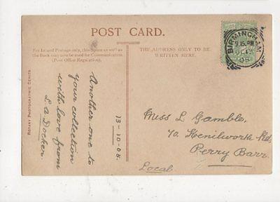 Miss L Gamble Kenilworth Road Perry Barr Birmingham 1905482a