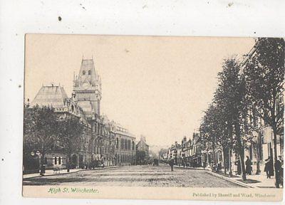 High Street Winchester Vintage Postcard Sherriff & Ward 639a