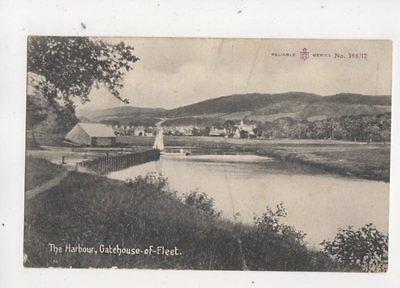 The Harbour Gatehouse Of Fleet 1908 Postcard Gatehouse Postmark