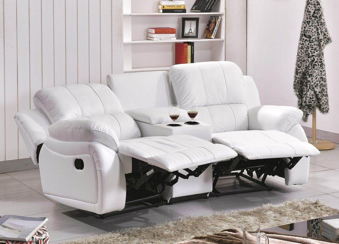 ledersofa kinosofa relaxcouch fernsehsofa recliner 5129 cup 2 sw sofort eur 949 00 picclick de. Black Bedroom Furniture Sets. Home Design Ideas