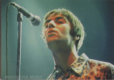 OASIS POSTCARD Liam Gallagher Mic. OFFICIAL Vintage Orginal 1990s Pyramid PC8026