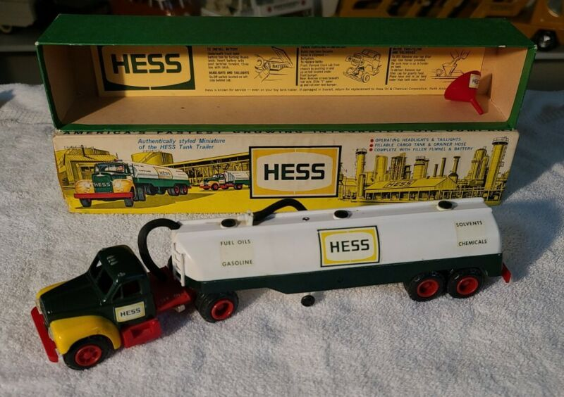 1964 Marx #1 Hess Truck with Funnel and Original Box Fabulous ! Almost Perfect
