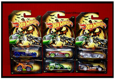 2019 Hot Wheels Halloween Set Of 6, Themed Cars Collector Series In Stock Now! - Halloween Car Themes