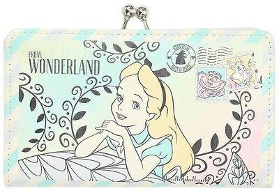 New!  Disney Alice in Wonderland Postcard Kisslock Accordion Wallet