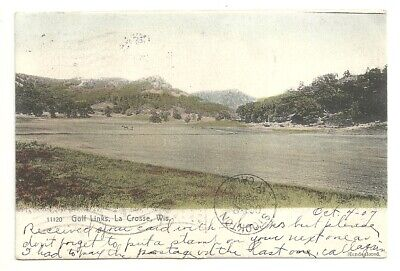 Postcard LA CROSSE Wisconsin  WI    Golf Links Hand Colored 1906 View Antique for sale  Stockton
