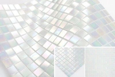 1Matte Stabmosaik Fliese Glasmosaik schwarz silber Duschwand BAD WC 67-GV478/_b