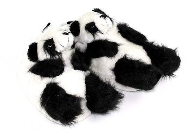 Panda Bear Slippers - Black & White Animal Slippers -Adult & Kids Sizes In Stock Panda Bear Slippers