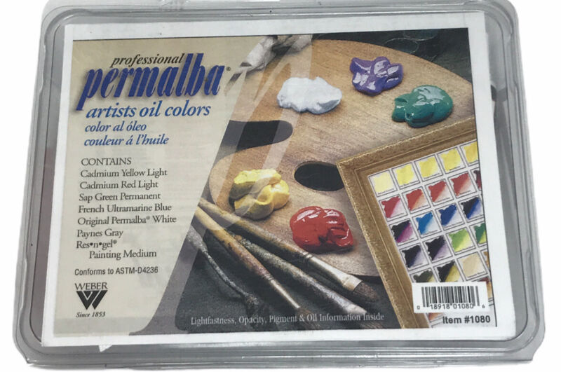 WEBER PERMALBA 6 Color 37ml Tubes Oil Set