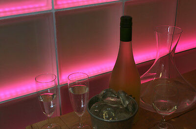 Trennwand, Paravent, Raumteiler, Sichtschutz aus Echtglas beleuchtet Farbwechsel