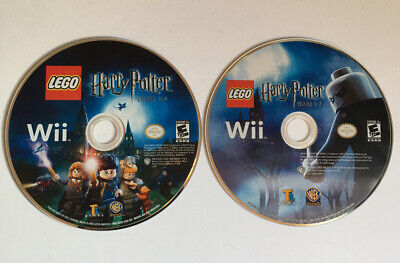 NINTENDO Wii LEGO Harry Potter Years 1-4 & 5-7 Bundle Discs Only - Excellent