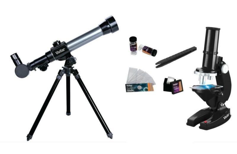 Vivitar VIV-TELMIC-20 Refractor Telescope/Microscope Combo 20x/30x/40x Tripod