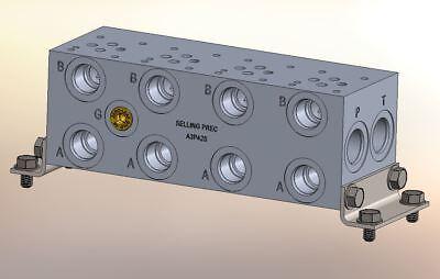 Hydraulic Manifold A3p42s Ad03p042s Bmr-asp03s2-04 Ba03gps04sduaaaa
