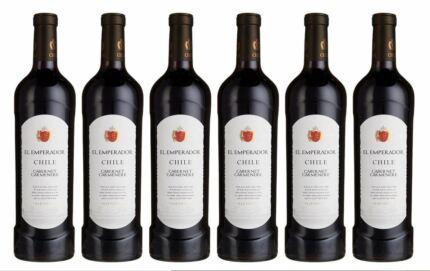 6x-EL-EMPERADOR-CABERNET-CARMENERE-075L-Wein-Rotwein-Chile