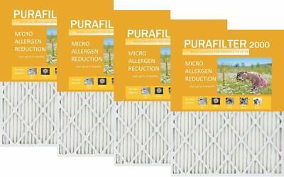 4' Allergen Reduction Filter - Purafilter Gold 18 x 25 x 1 MERV 11 Air Filter 4 Pack Micro Allergen Reduction