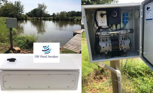 "NEW Weatherproof / Outdoor Aeration Pond Pump Cabinet Enclosure 16""x16""x8"""