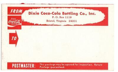 Vintage Dixie Coca-Cola  Bristol Va address labels