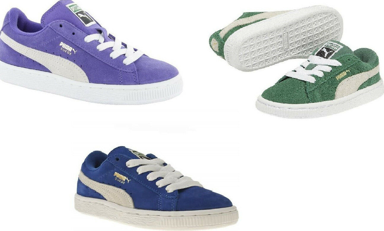 New Boys Girl Infants Kids Puma Unisex Suede Trainers xmas gift