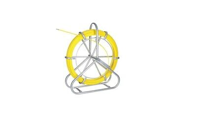 Duct Rodder Fish Tape Puller Fiberglass Wire Cable Running With Cage And Wheel
