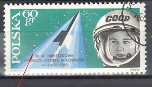 Poland 1963 - Valentina Tereshkova - error Mi. 1416 - used - <span itemprop=availableAtOrFrom>Cieszyn, Polska</span> - Poland 1963 - Valentina Tereshkova - error Mi. 1416 - used - Cieszyn, Polska