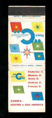 LINEA C SOCIETA' DI NAVIGAZIONE MATCHBOX LABEL ANNI '50 MARINA