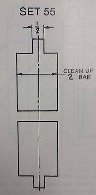 Press Brake Die Flattening Die 2 Inch Clean Up Bar 55 12 Inch Top Bottom
