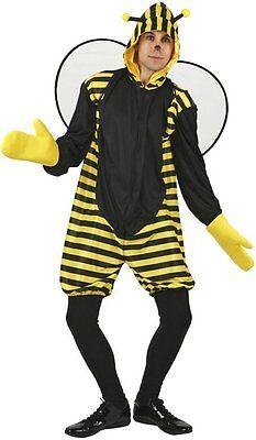 Kostüme Film Zeichen (Kostüm Herren Biene tierische s Erwachsene Maya Zeichnung Zeichentrick- film)