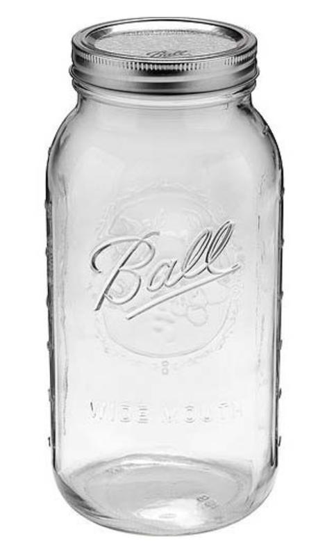 1/2 Gallon Mason Jar 64 Oz Half Gallon Ball Jar Wide Mouth C