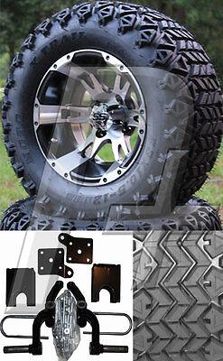 Ezgo Golf Cart Lift Kit Tire And Wheel Combo - 1994-2001.5 - 23 Tires - C11