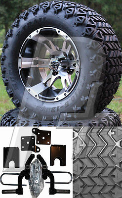 Ezgo Golf Cart Lift Kit Tire And Wheel Combo - 1994-2001.5 - 23 Tires - C11
