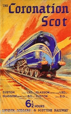 Coronation Scot Great Britain Vintage Travel Advertisement Poster Picture Print