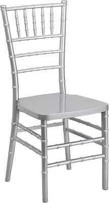 Flash Elegance Silver Resin Stacking Chiavari Chair