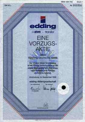edding Text Marker 1986 Ahrensburg Hamburg Bautzen 50 DM Historische Wertpapiere