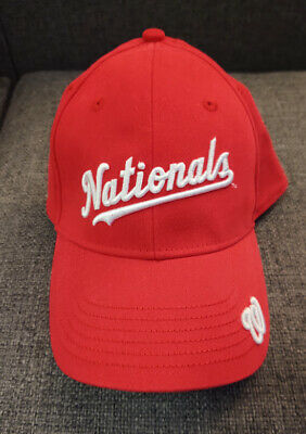 Washington Nationals SGA Fitted Hat ExxonMobil Red Stretchy