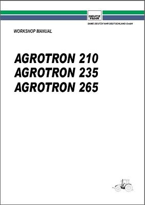 Deutz Fahr Agrotron 210 235 265 Tractor Service Manual Cd -- English French