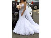 Enzonai Jenny wedding dress (white) and veil