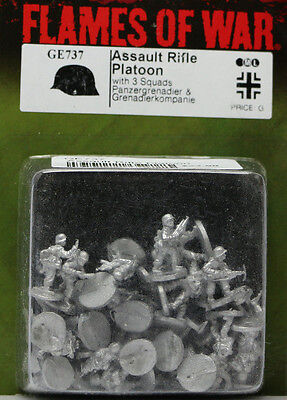 Flames of War: German: Assault Rifle Platoon (GE737)  NEW