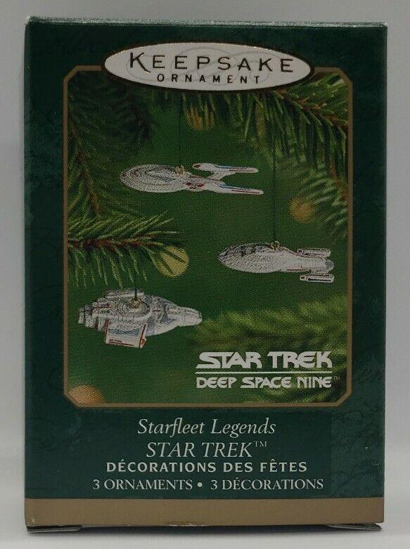 2001 HALLMARK STAR TREK STARFLEET LEGENDS DEEP SPACE NINE MINIATURE ORNAMENTS