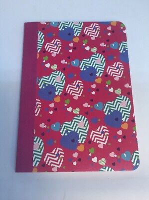 80 Sheet College Ruled 5 X 7 Personal Book Red Cover With Hearts