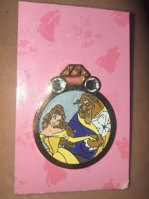 Disney Pin Princess Engagement Ring Mystery Reveal Conceal Belle Beauty & Beast