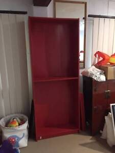 Red Bookcase / Shelves - free, pick up only Winston Hills Parramatta Area Preview