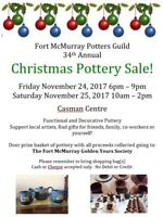 Fort McMurray Potters Guild 34th annual Christmas Pottery Sale