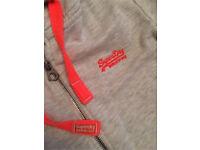 Ladies Large Grey Orange Label Superdry Zip Hoodie RRP £65
